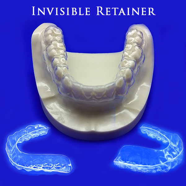 Invisible retainers for straightening teeth